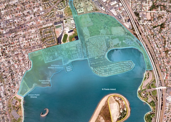 Mission Bay Restoration map